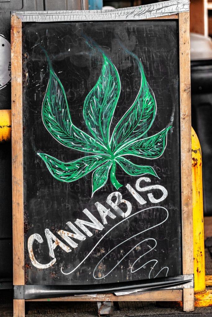 Bigstock Cannabis Blackboard Sign In Fr 263696773 683x1024